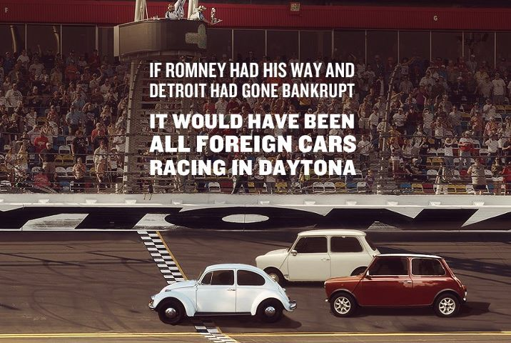Romney, cars, detroit